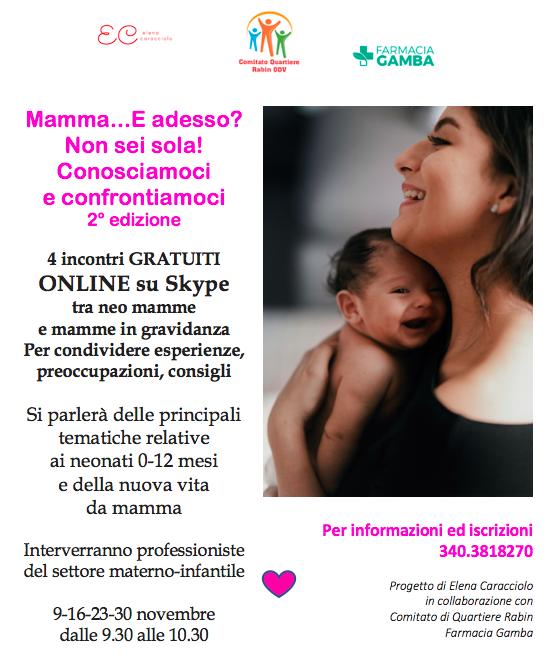 incontri di supporto informazione mamme e donne incinta